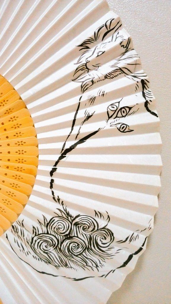 白澤妖怪扇子