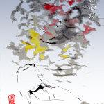 煤け提灯 伝承妖怪お題絵(新潟県)